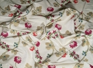 CLARENCE HOUSE LA MALMAISON FRENCH COUNTRY SILK DAMASK FABRIC 8.5 YARDS MULTI