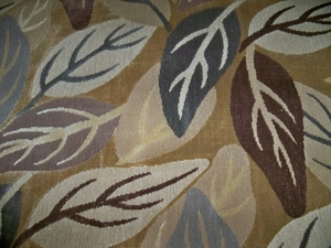 CLARENCE HOUSE LAURELWOOD WOVEN LINEN VELVET FABRIC 2.5 YARDS BROWN MULTI