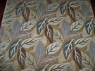 CLARENCE HOUSE LAURELWOOD WOVEN LINEN VELVET FABRIC 4.5 YARDS BROWN MULTI