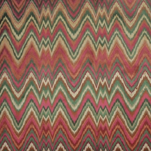CLARENCE HOUSE LEOPOLD FLAME STITCH FABRIC RED