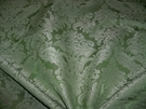 CLARENCE HOUSE LOTUS MEDALLION SILK LINEN DAMASK FABRIC 10 YARDS CELADON OPAL