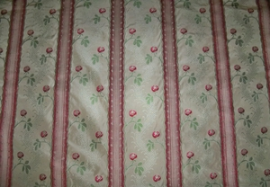 CLARENCE HOUSE MAITLAND SHABBY ROSES (ROSEBUDS) FRENCH LISERE SILK DAMASK FABRIC 10 YARDS CREAM