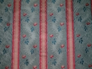 CLARENCE HOUSE MAITLAND SHABBY ROSES (ROSEBUDS) FRENCH LISERE SILK DAMASK FABRIC 10 YARDS FRENCH BLUE ROSE OPAL