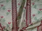CLARENCE HOUSE MAITLAND SHABBY ROSES (ROSEBUDS) FRENCH LISERE SILK DAMASK FABRIC CREAM