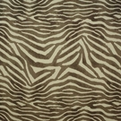 CLARENCE HOUSE MANDARI ANIMAL PRINT LINEN FABRIC BROWN