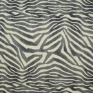 CLARENCE HOUSE MANDARI ANIMAL PRINT LINEN FABRIC GREY