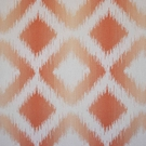 CLARENCE HOUSE MARBELLA IKAT KILIM WOVEN FABRIC ORANGE