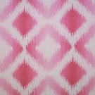 CLARENCE HOUSE MARBELLA IKAT KILIM WOVEN FABRIC PINK