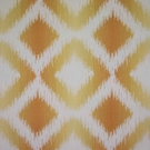 CLARENCE HOUSE MARBELLA IKAT KILIM WOVEN FABRIC YELLOW