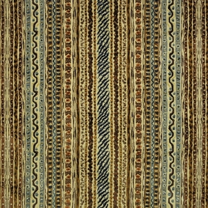 CLARENCE HOUSE MONTAGUE WOVEN VELVET FABRIC BROWN