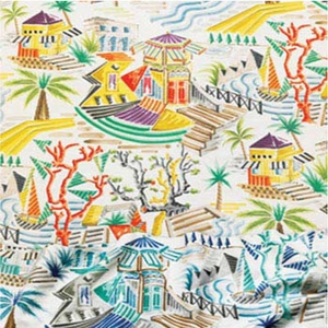 CLARENCE HOUSE MOUGINS PRINTED FABRIC MULTI