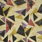 CLARENCE HOUSE  MURANO GEOMETRIC ART DECO VELVET FABRIC NEUTRAL