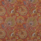 CLARENCE HOUSE PARKER PAISLEY COTTON VELVET FABRIC RED 3