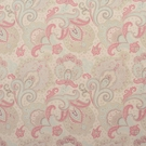 CLARENCE HOUSE PARKER PAISLEY COTTON VELVET FABRIC TAUPE 1