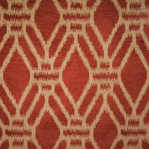 CLARENCE HOUSE PUJARI WOVEN FABRIC TERRA COTTA