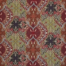 CLARENCE HOUSE RHODES LINEN FABRIC RED