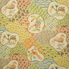 CLARENCE HOUSE SHERE KHAN LINEN FABRIC ORIGINAL 1