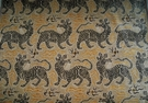 CLARENCE HOUSE TIBET  SMALL SCALE  WOVEN VELVET FABRIC MUSTARD