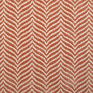 CLARENCE HOUSE TIGER TIGRE CUT VELVET FABRIC CORAL