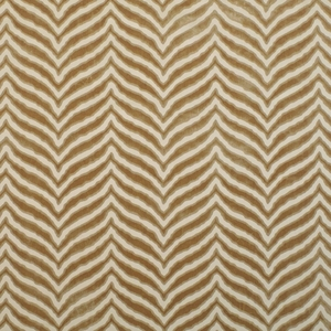 CLARENCE HOUSE TIGER TIGRE CUT VELVET FABRIC SAND