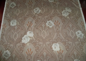 CLARENCE HOUSE VINTAGE ETRO ARREDAMENTO PAISLEY & ROSE LIGHTWEIGHT COTTON FABRIC 3.5 YARD REMNANT