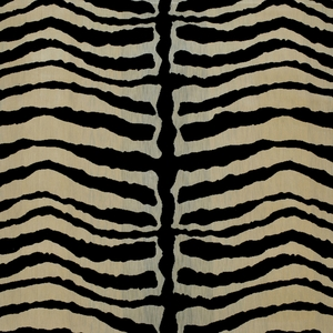 CLARENCE HOUSE ZEBRA VELOURS SOIE SILK FABRIC NATURAL
