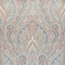 CLARENCE  HOUSE BELLINI PAISLEY SILK DAMASK FABRIC GREY