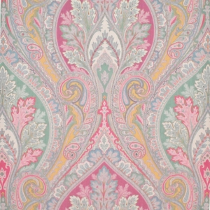 CLARENCE HOUSE BELLINI PAISLEY SILK DAMASK FABRIC MULTI