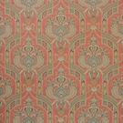 CLARENCE HOUSE HYDERABAD PAISLEY LINEN FABRIC APRICOT