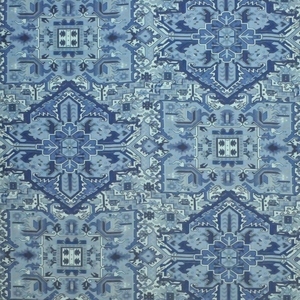 CLARENCE HOUSE TURKISH CARPET FABRIC BLUE