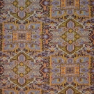 CLARENCE HOUSE TURKISH CARPET FABRIC PURPLE