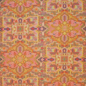 CLARENCE HOUSE TURKISH CARPET FABRIC RED