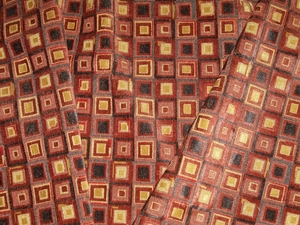 COWTAN & TOUT KALEIDOSCOPE GEOMETRIC GROIS POINT VELVET FABRIC 4 YARDS
