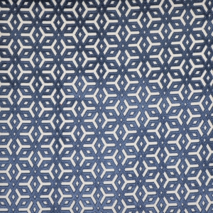 DESIGNER  APOLLINA BELGIUM CUT VELVET FABRIC BLUE