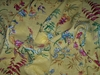 DESIGNER CHINOISERIE ASIAN TOILE BIRDS LINEN FABRIC 10 YARDS
