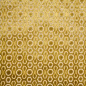 DESIGNER CONTEMPORARY GEOMETRIC CUT VELVET FABRIC APPLE BEIGE