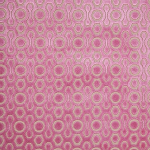 DESIGNER CONTEMPORARY GEOMETRIC CUT VELVET FABRIC ROSE / PINK BEIGE