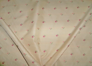 DESIGNER FRENCH COUNTRY GINGHAM CHECK PETITE FLOWERS WOVEN FABRIC 30 YARD BOLT