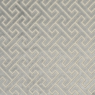 DESIGNER FRETWORKS MAZE TRINIDAD CUT VELVET FABRIC SPA BLUE