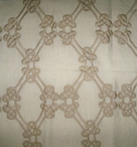 DESIGNER GORDIANA WEAVE EMBROIDERED LINEN FABRIC