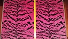 DESIGNER ITALIAN LA TIGRESA TIGER SCALAMANDRE STYLE TIGRE STRIE SILK VELVET FABRIC PINK BLACK SAMPLE