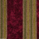 DESIGNER ITALIAN WINDSOR STRIPE CHENILLE FABRIC BURGUNDY TAN CITRUS