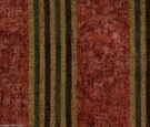 DESIGNER ITALIAN WINDSOR STRIPE CHENILLE FABRIC CRIMSON GREEN AMBER