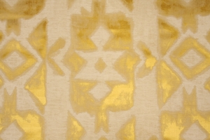 DESIGNER MARRAKESH DAMASK FABRIC SUN