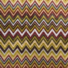 DESIGNER TONI MISSONI STYLE FLAMESTITCH ZIG ZAG VELVET FABRIC BROWN GOLD CRIMSON MULTI