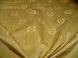 LEE JOFA KRAVET NEOCLASSICAL BEE SILK DAMASK FABRIC 10 YARDS MAIZE
