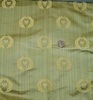 DESIGNER NEOCLASSICAL BEE SILK DAMASK FABRIC CELADON GOLD OPAL  5 YARD MINIMUM
