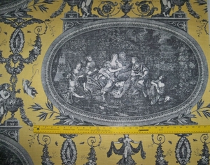 DESIGNER FRENCH NEOCLASSICAL ROUSSEAU TOILE FABRIC 10 YARDS