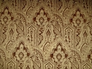 DESIGNER PAISLEY MEDALLIONS RENAISSANCE BAROQUE VELVET FABRIC GOLD BROWN - SAMPLE
