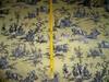 DESIGNER ROMANTIC FRAGONARD TOILE DE JOUY COTTON FABRIC 10 YARDS YELLOW BLACK WHITE